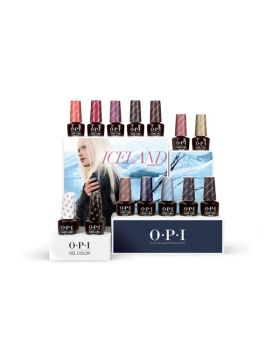 Iceland GelColor Salon Counter Display – 16 x 15 ml