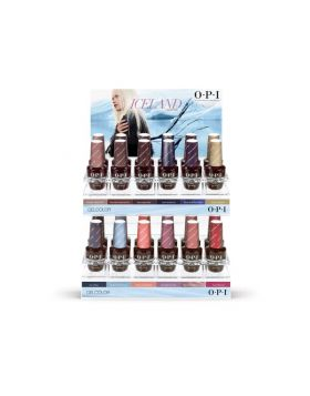 Iceland GelColor Acrylic Store Display – 24 x 15 ml