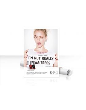 "OPI Infinite Shine Poster ""I'm Not Really a Waitress"" - DIN A1"