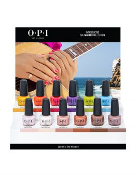 NAIL LACQUER 12PC CHIPBOARD DISPLAY - Malibu Collection