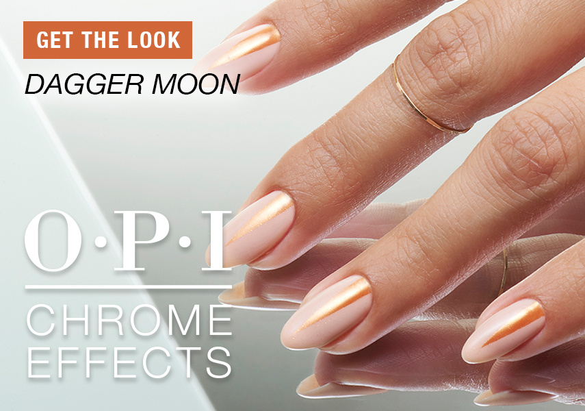 Anleitung OPI Chrome Effects Nail Art Dagger Moon