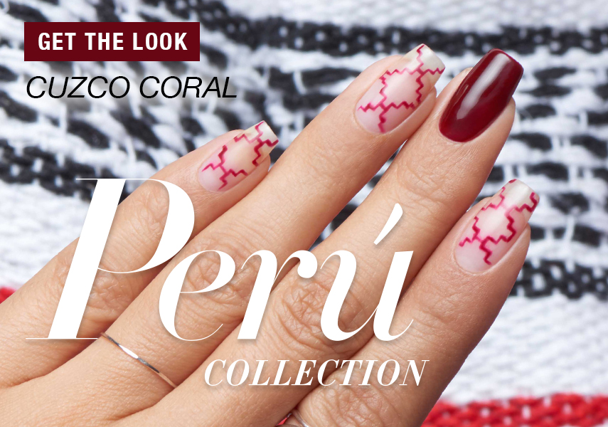 OPI Peru Collection Nail Art Cuzco Coral - Step by Step-Anleitung mit Video