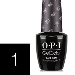 OPI Chrome Effects Powders Anwendung mit GelColor Step 1