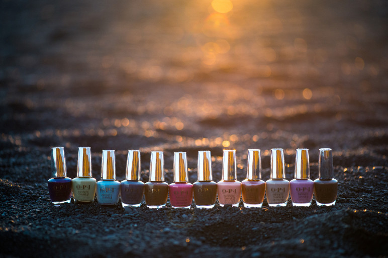 Die 12 Infinite Shine Farben der Iceland Collection von OPI